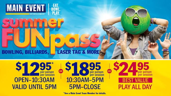 School's Out, Summer's In At Main Event Entertainment