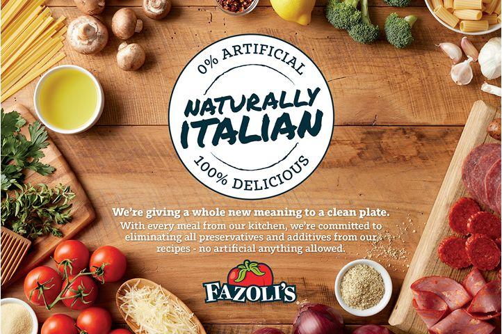 Fazoli's Celebrates New Clean Menu With Naturally Italian Sweepstakes
