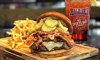Walk-On's Debuts The Red, White and Que Burger