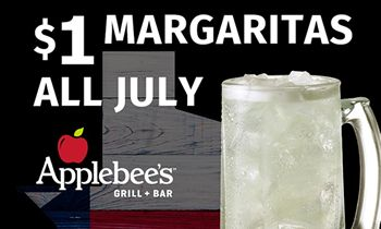 "Applebee's in Texas Offer Margaritas for a Buck – ""DollaRitas"" – AND Half-Price Appetizers All Day on National Tequila Day – Monday, July 24"