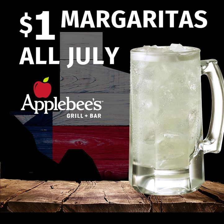 "Applebee's in Texas Offer Margaritas for a Buck - ""DollaRitas"" - AND Half-Price Appetizers All Day on National Tequila Day - Monday, July 24"