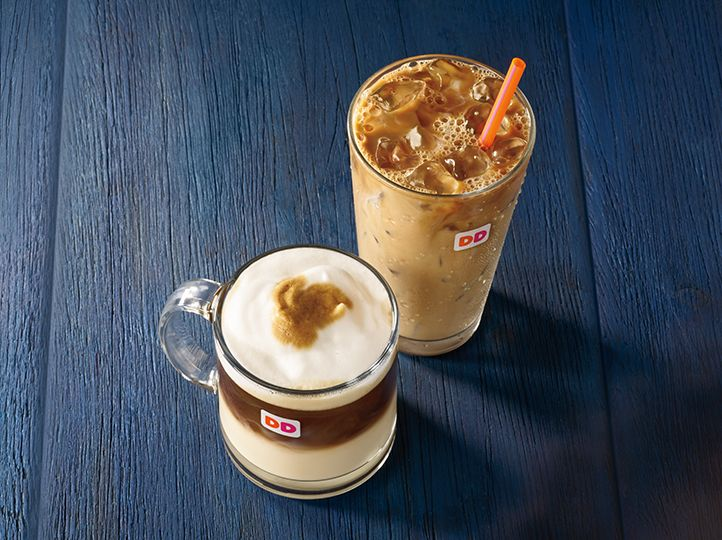 Dunkin' Donuts Maple Pecan Iced Coffee and Maple Sugar Bacon Breakfast Sandwich
