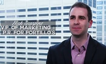 How Nick Scarpino Went From Cashier to VP of Marketing and PR for Portillo's