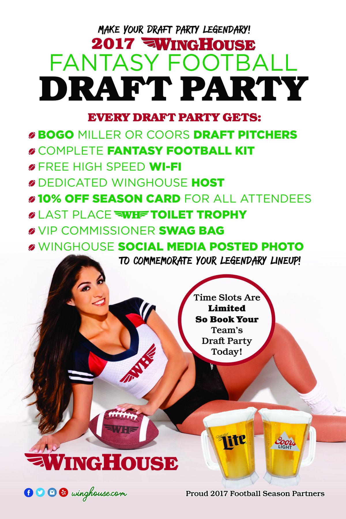 WingHouse Dares to Make The 2017 Draft Day Party Season Legendary