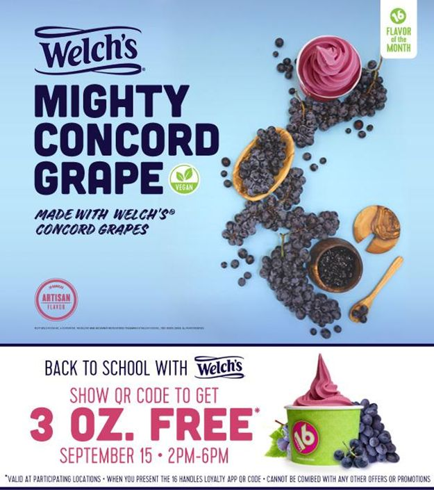 16 Handles Launches Welch's Mighty Concord Grape!