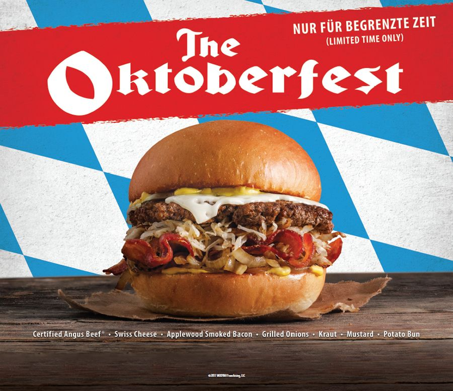 Bavarian Burgers: MOOYAH Burgers, Fries & Shakes Celebrates Fall with The Oktoberfest
