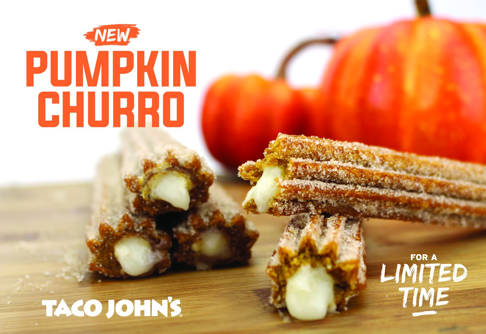 Pumpkin Churros Bring Taste of Autumn To Taco John's