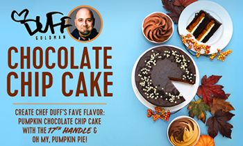 16 Handles Partners with Chef Duff Goldman for New Frozen Yogurt Flavor – Duff's Chocolate Chip Cake!
