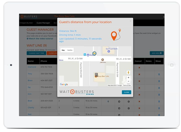 Waitbusters' Location Updates Allow You to Adjust Guests' Position in Line