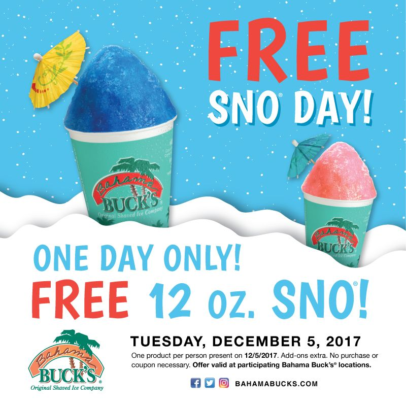 Bahama Buck's Marks the First Tuesday of December as the Coolest Day of the Year