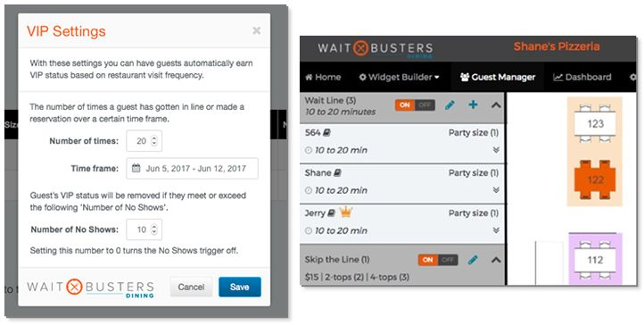 Flag Your VIP Guests With Waitbusters' Digital Diner