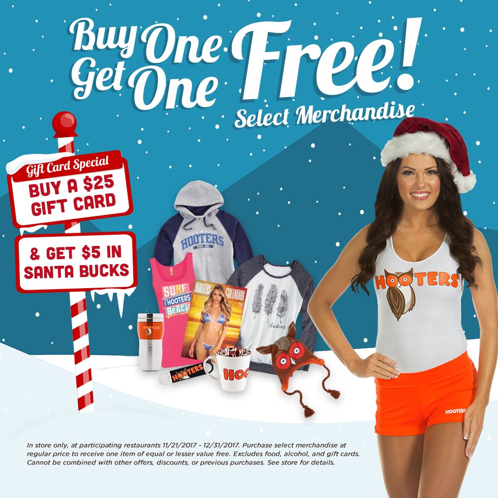 Hooters Heats Up the Holidays with Bonus Offers