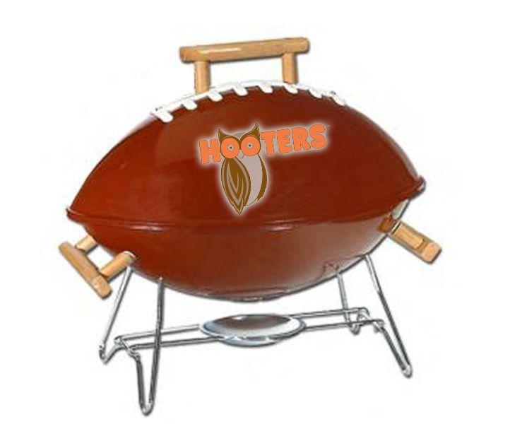 Unique Football Shaped Charcoal Grills Ideal for Super Bowl Promotions