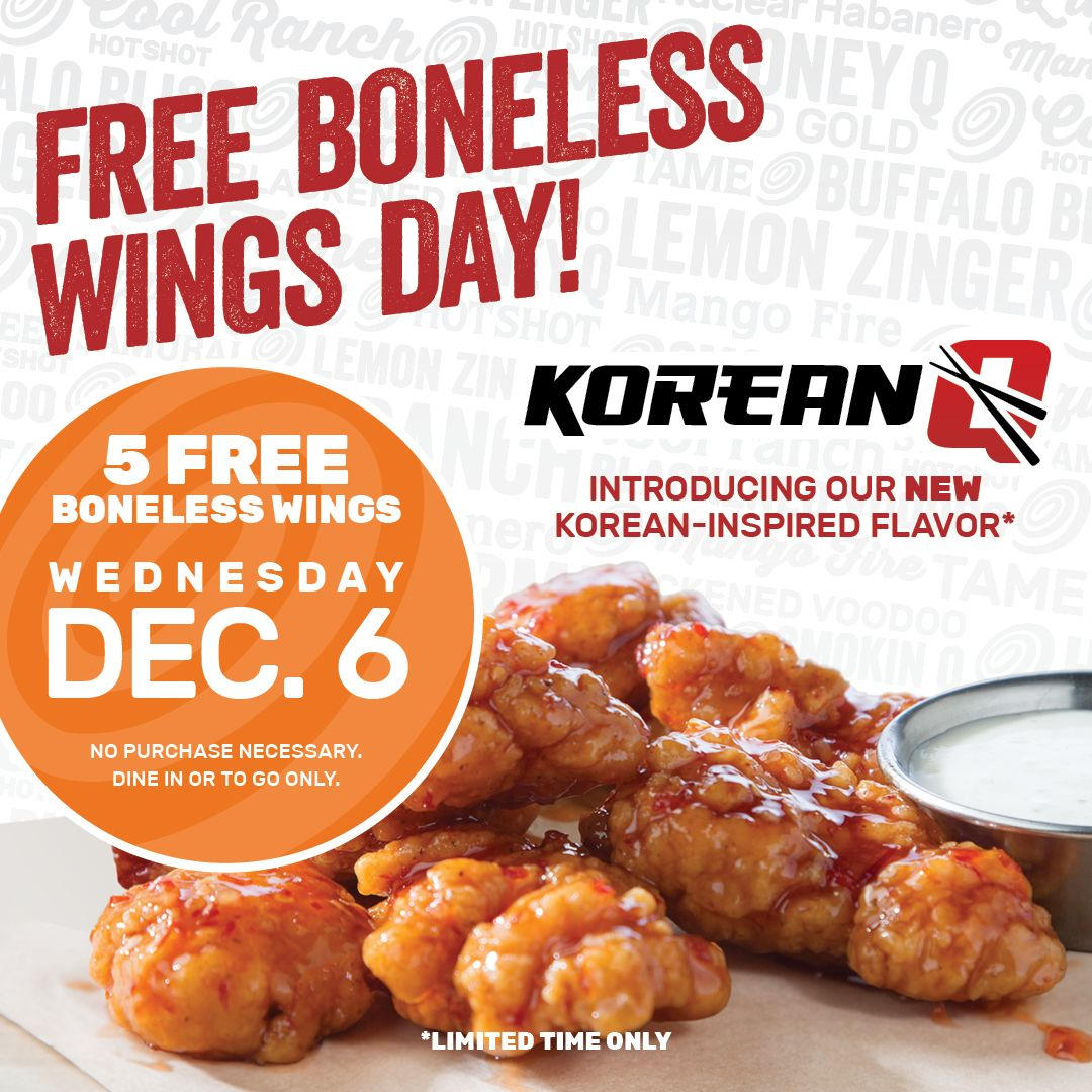 Wing Zone Offers Free Boneless Wings on December 6 to Benefit the Ben Abercrombie Fund