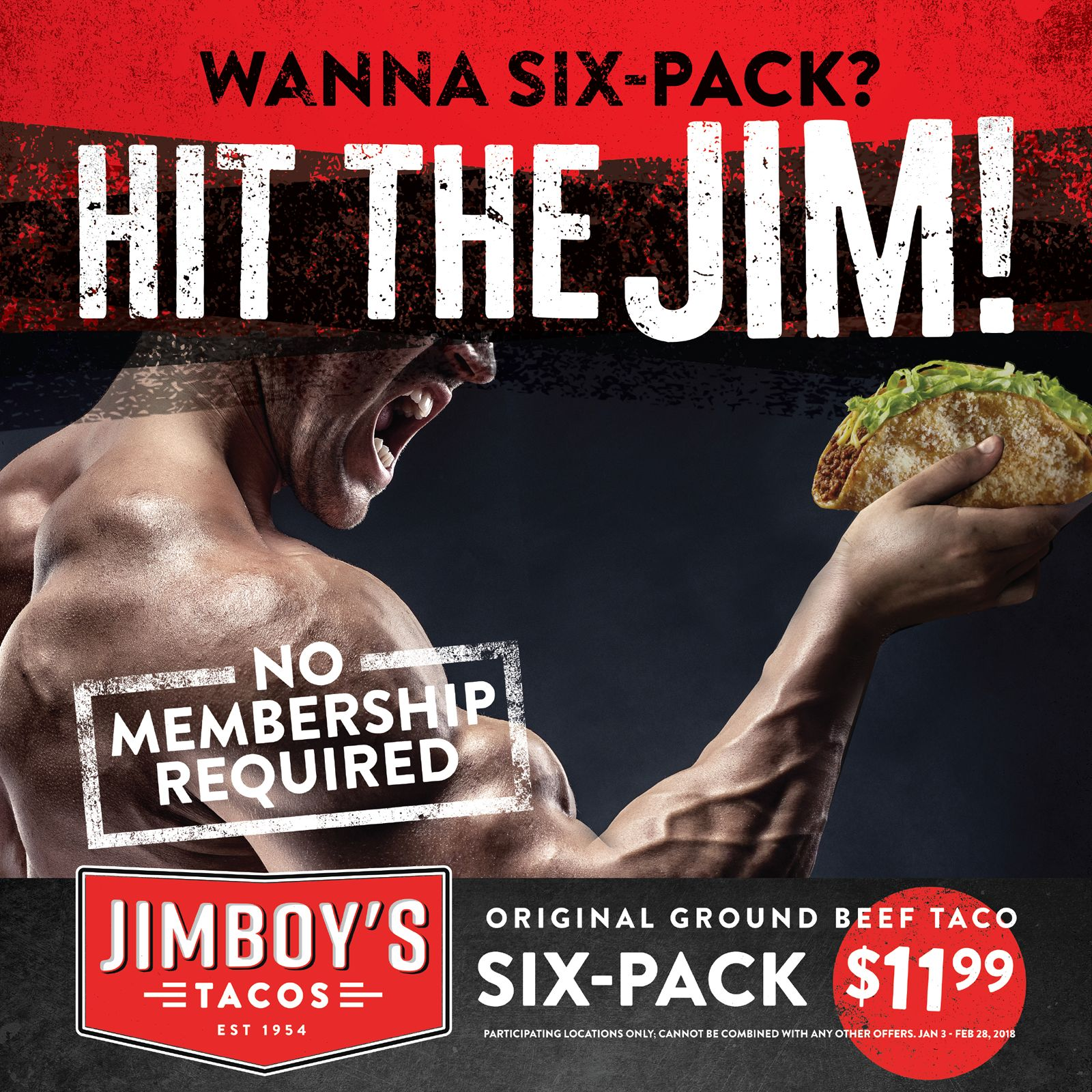 Jimboy's Tacos Encourages Fans to Hit the Jim for a Six-Pak