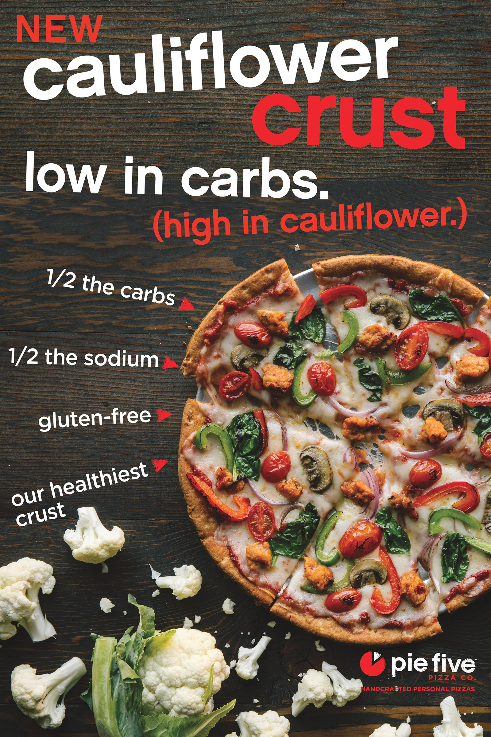 Pie Five Launches First Fast Casual Cauliflower Crust