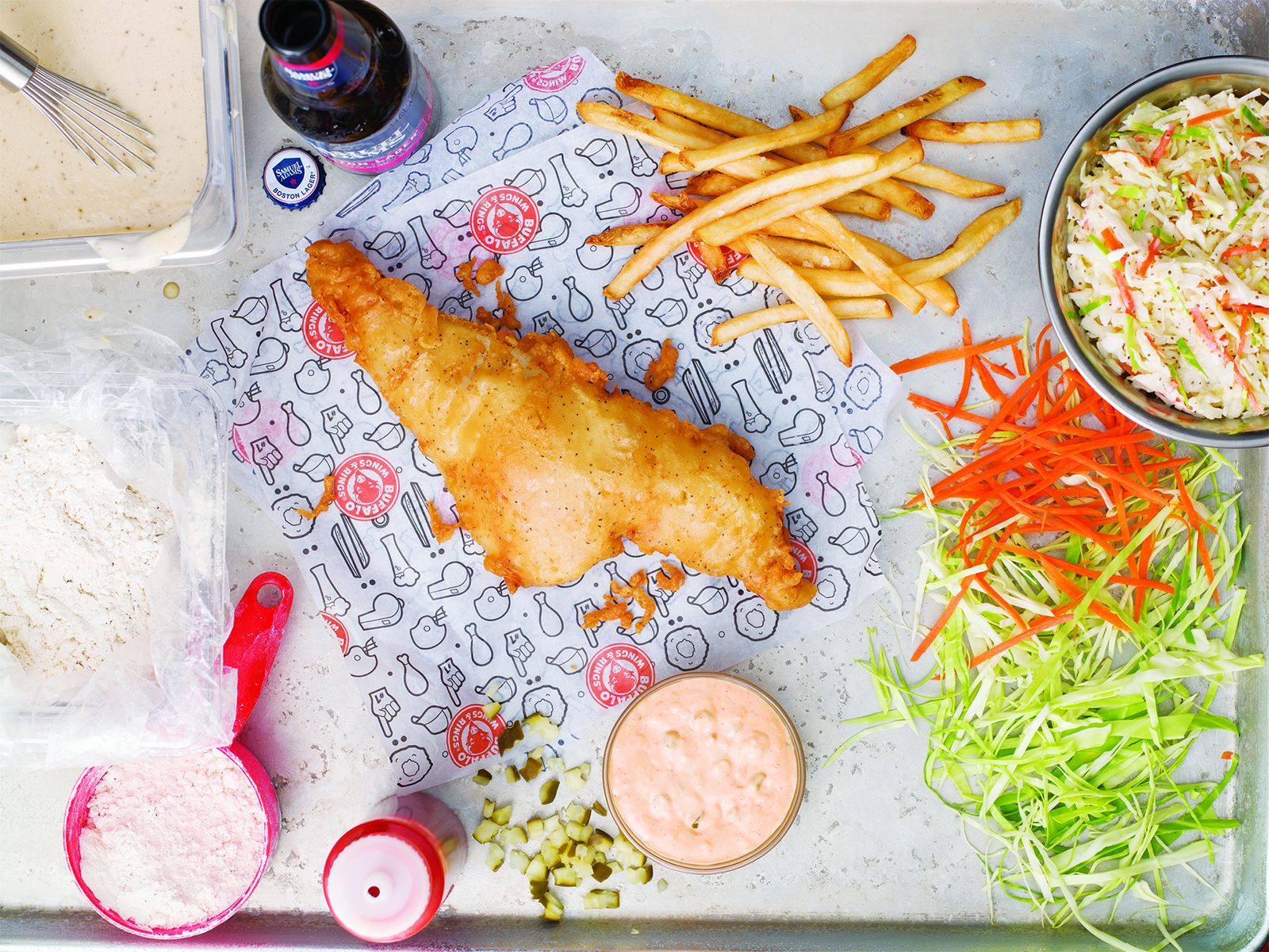 Buffalo wings rings celebrates lenten season with for Fish and wings