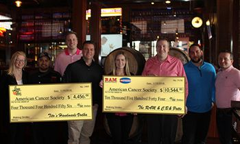 The RAM and C.B. & Potts Restaurants & Breweries Raise $15,000 for the American Cancer Society