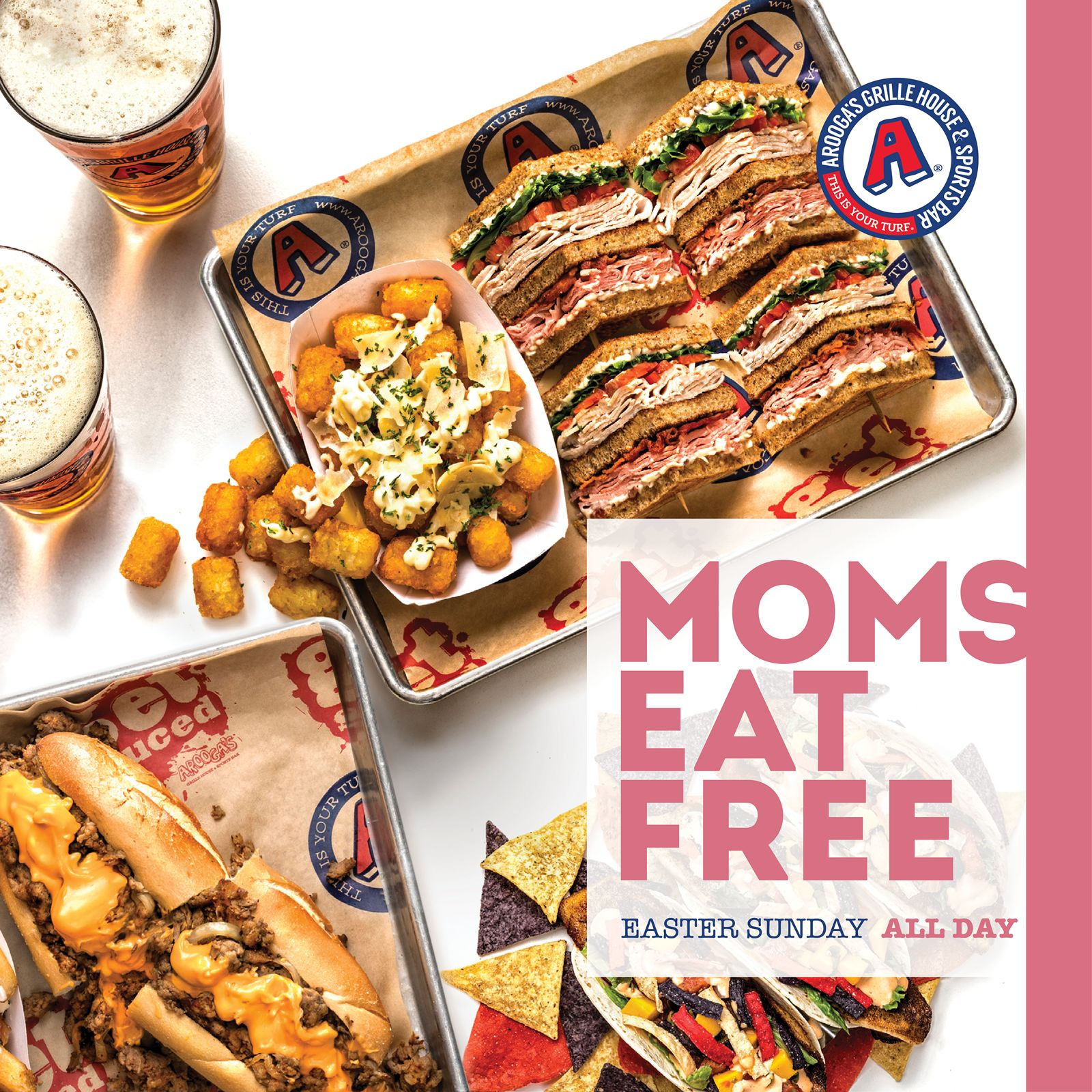 Arooga's Offering Free Meals for Moms Easter Sunday