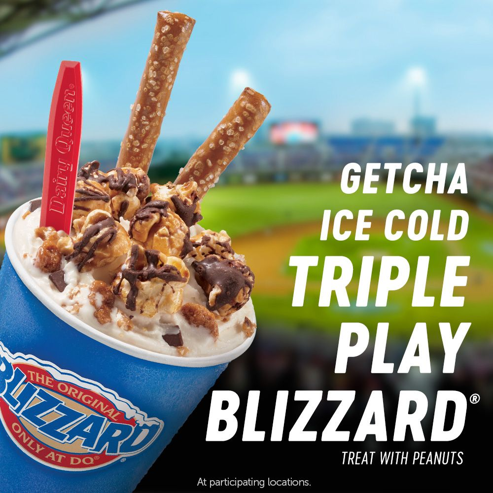 Dairy Queen Hits a Homerun with New Baseball Inspired Blizzard Treat in Home Team Cities on Opening Day