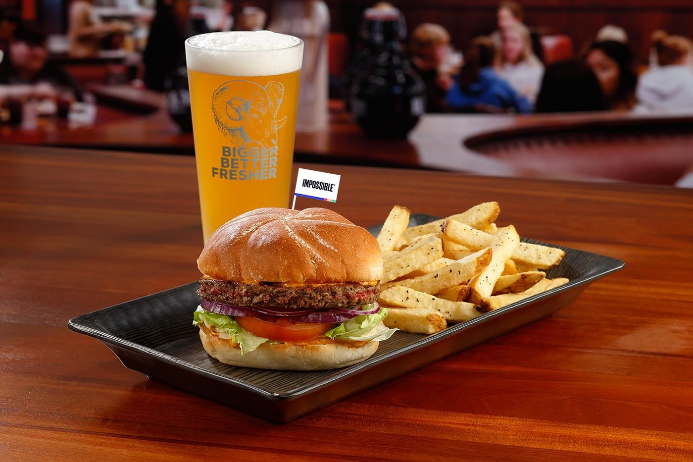 The Impossible Burger is now at The RAM and C.B. & Potts