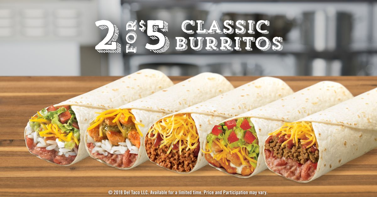 Celebrate National Burrito Day With Free Fries at Del Taco