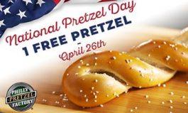 Philly Pretzel Factory Announces Pretzels for Everyone on National Pretzel Day, April 26, 2018