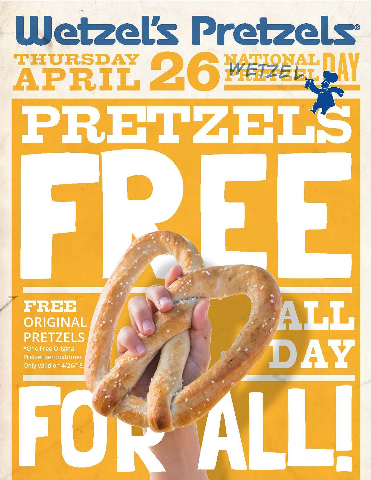 Wetzel's Pretzels Celebrates Fourth Annual National Wetzel Day