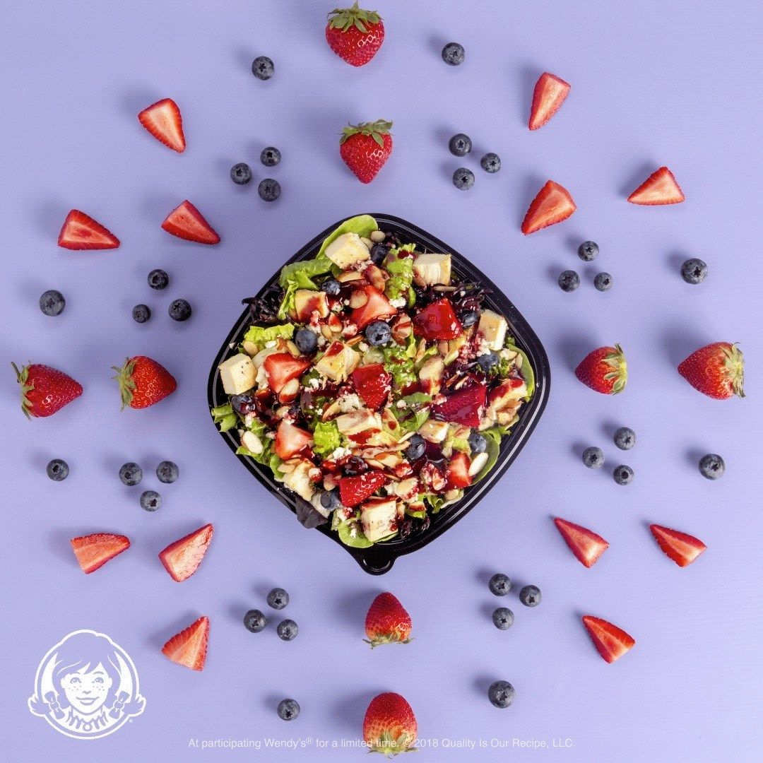 Wendy's New Berry Burst Chicken Salad: Made Fresh. Delivered Free.