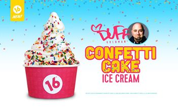 16 Handles Launches New Flavor: Duff's Confetti Cake Ice Cream