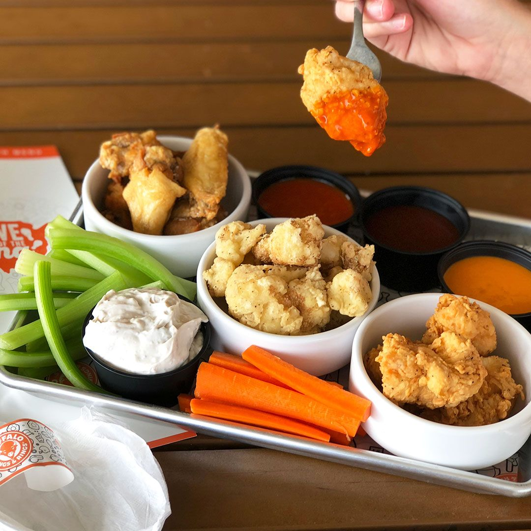 Buffalo Wings & Rings Three-Style Free-Style Wing Sampler