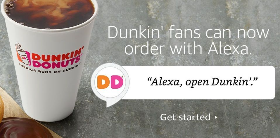 """Alexa, Order from Dunkin' Donuts:"" Dunkin' Donuts Expands Order-Anywhere Accessibility with Amazon Alexa Integration"