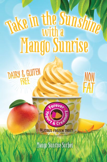 Make It a Cool Summer at Forever Yogurt with Mango Sunrise Sorbet and 2-For-1 Happy Hour