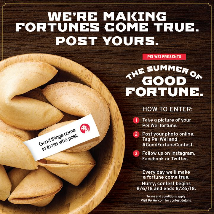 Make It a Summer of Good Fortune at Pei Wei