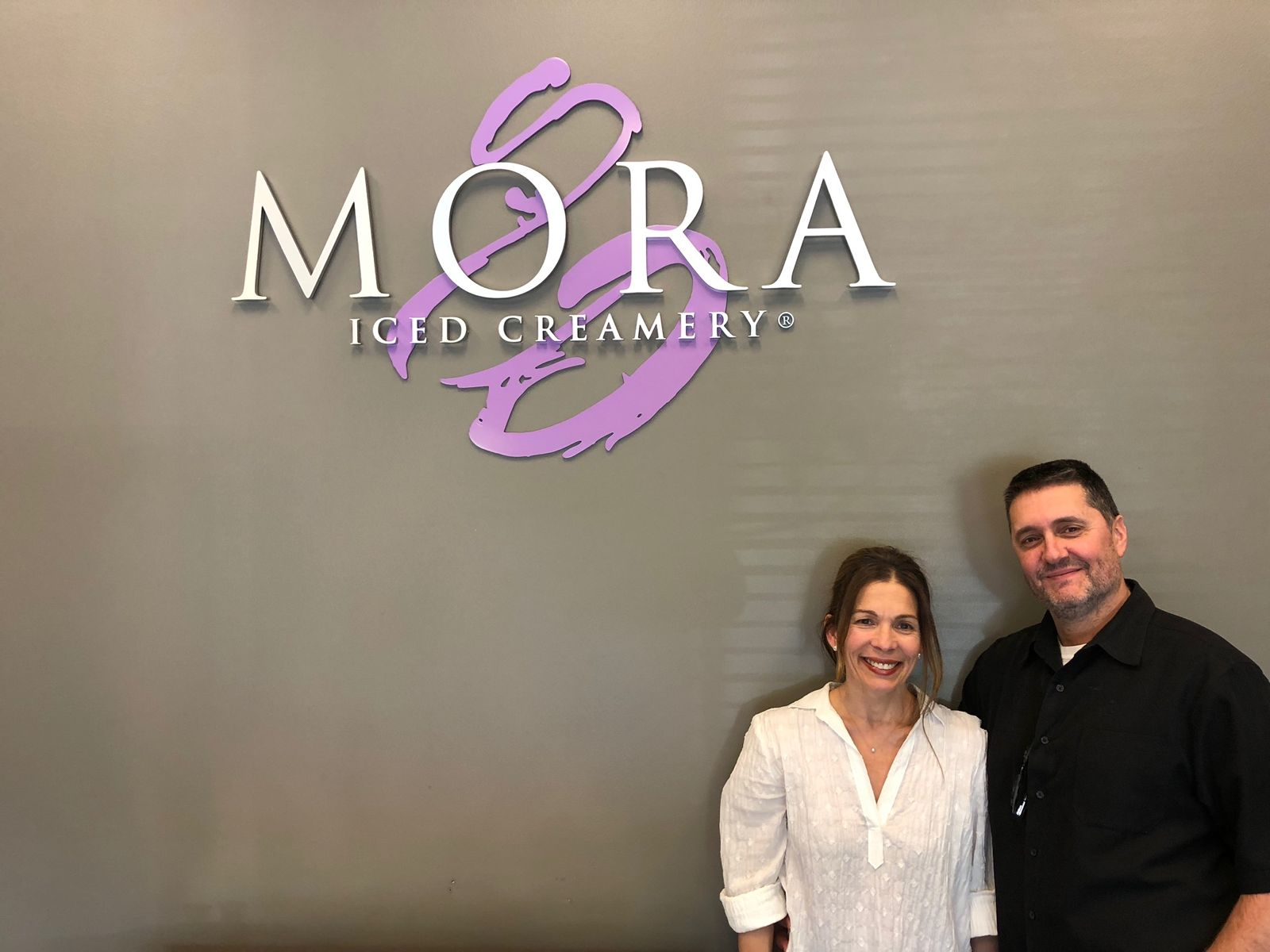 Ana Orselli and Jerry Perez Mora Iced Creamery Founders