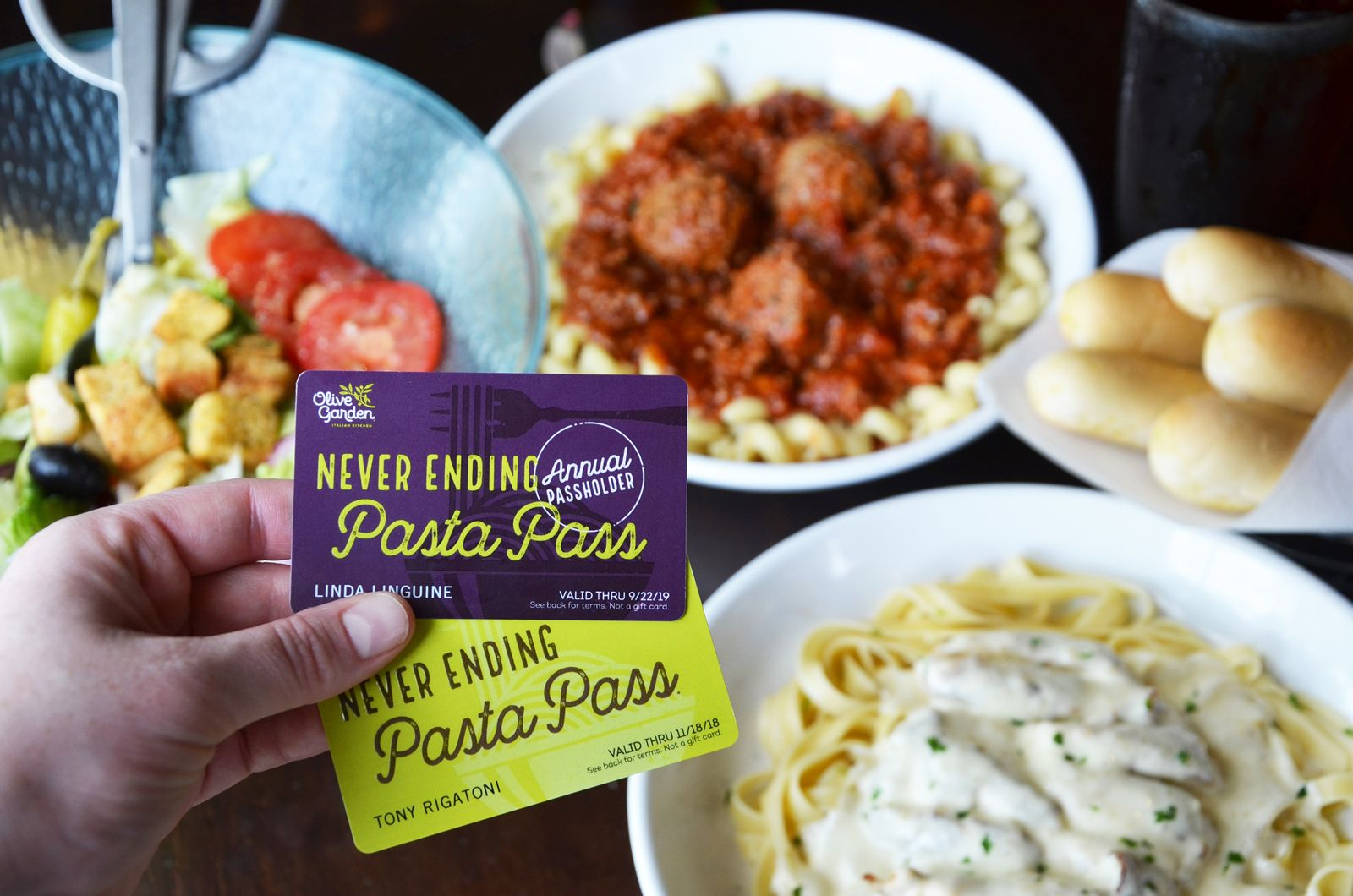 Olive Garden Introduces First-Of-Its Kind 'Annual Pasta Pass' That Extends Never Ending Pasta Benefits Year-Round