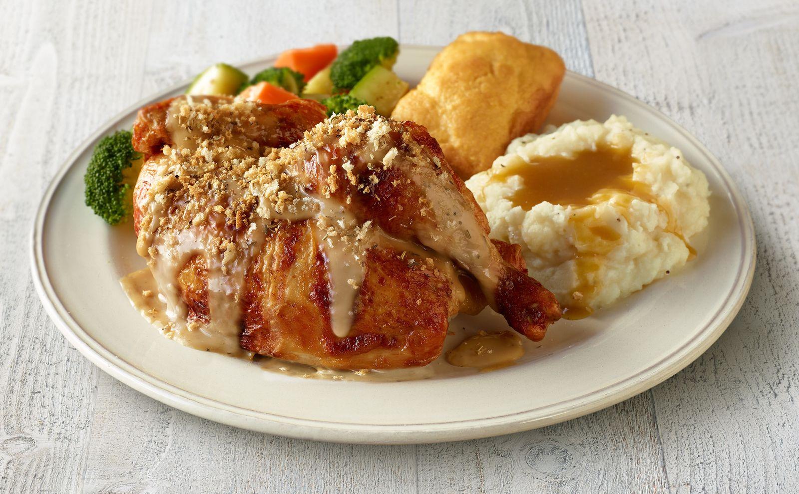 Boston Market Roasted Garlic & Herb Rotisserie Chicken