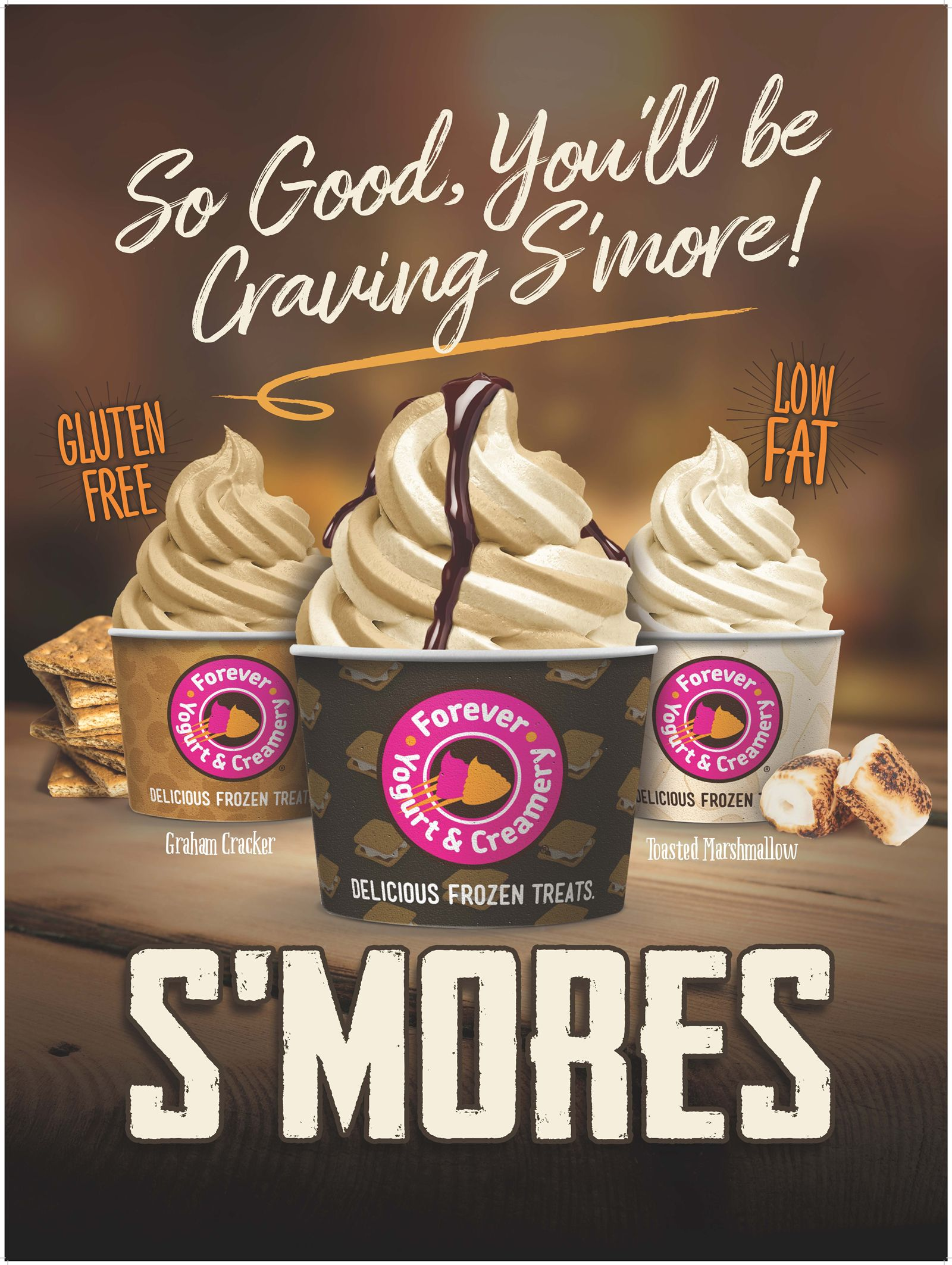 Forever Yogurt Gives Fan S'More Reasons to Swirl with Latest Flavor of the Month