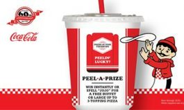 Pizza Inn Wraps Up 60th Anniversary with Peel-A-Prize Contest
