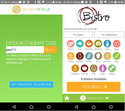 Allergy Menu Launches to Help Stop Food Allergy Deaths