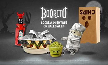 Boorito's Back! Chipotle Brings Back Annual Halloween Celebration, Launches Costume Contest For A Chance To Win A Year Of Free Burritos