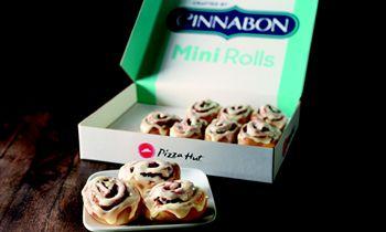 Savory Then Sweet: New Cinnabon Mini Rolls Roll Onto Pizza Hut Menu