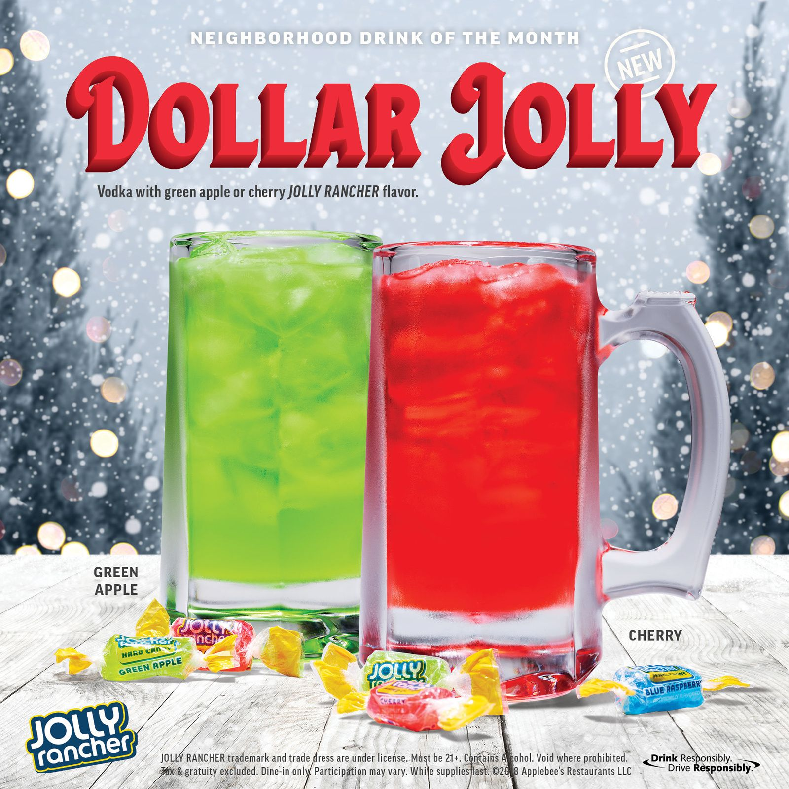 Deck the Halls with Boughs of Holly, Applebee's Announces December DOLLAR JOLLY!