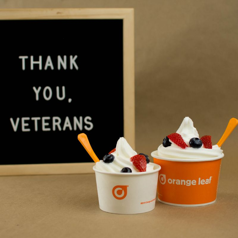 Orange Leaf Offers Veterans Free Froyo and Announces New Flavors