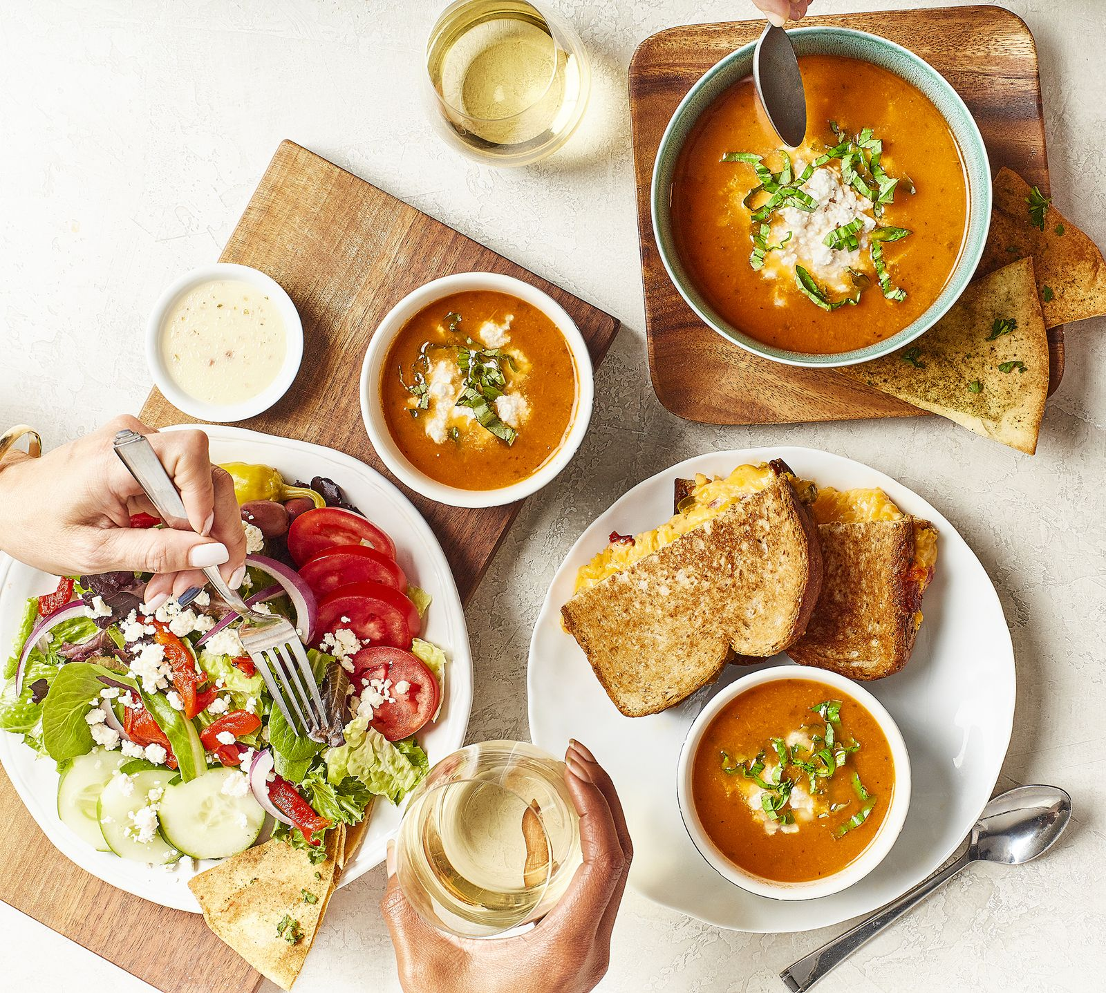 Taziki's Mediterranean Café Launches New Tomato-Basil Soup and Grilled Pimento Cheese
