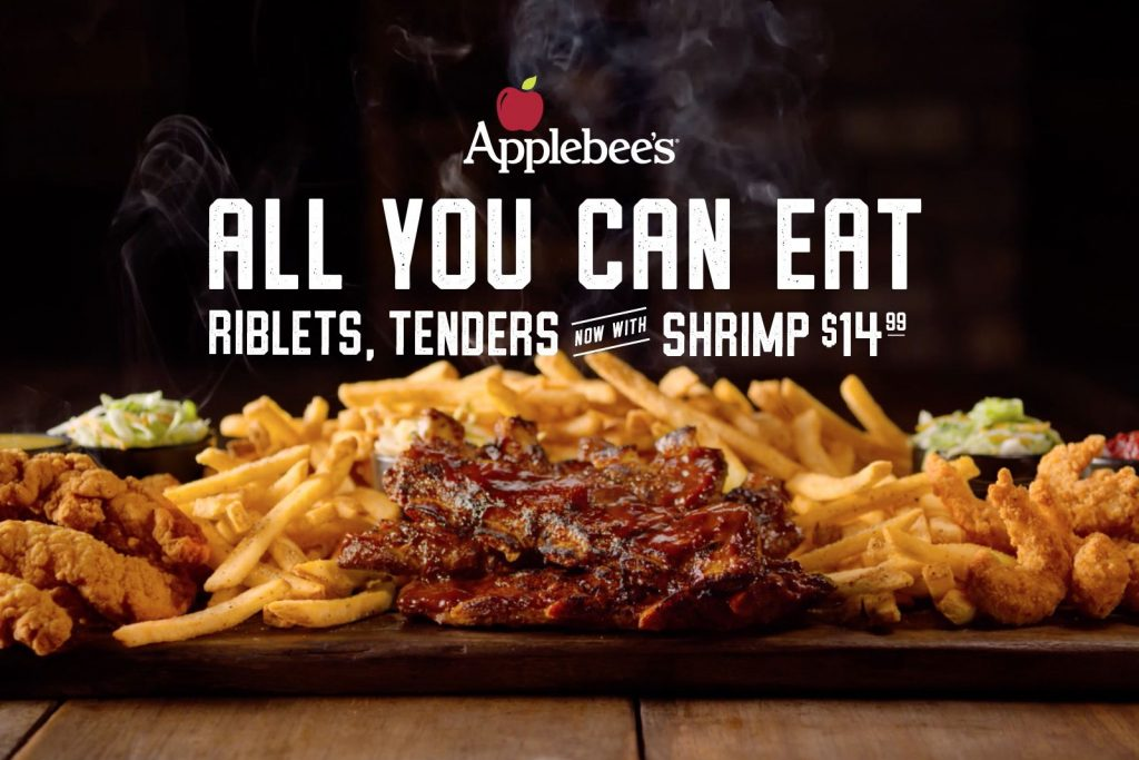 All You Can Eat Riblets & Chicken Tenders are Back at Applebee's and Even Better with Double Crunch Shrimp!