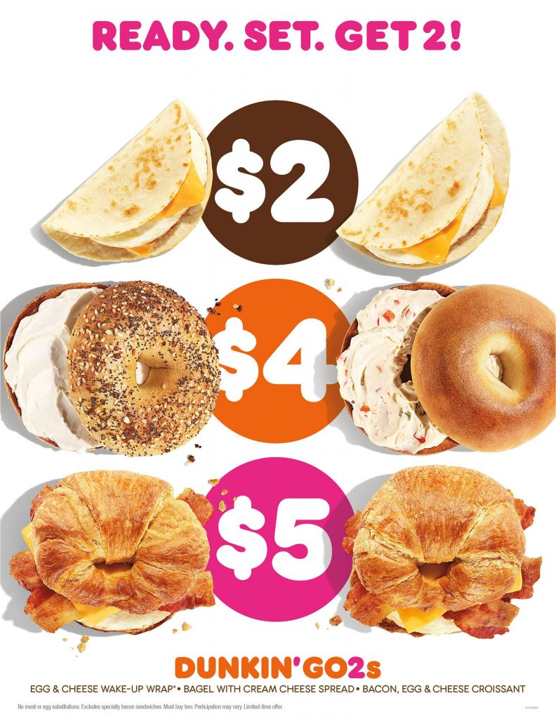 Dunkin' Brings New Go2s Value Menu Choices to Its January Menu