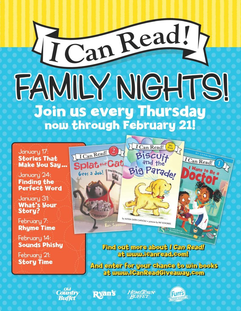 Ovation Brands and Furr's Fresh Buffet Explore the Wonderful World of Reading with Newest Family Night, Jan. 17