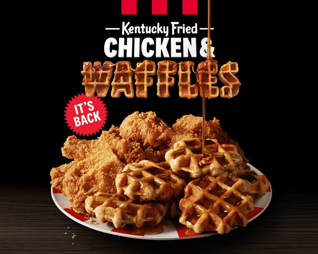KFC Is Bringing Back Chicken & Waffles For One Month Only - Get It While You Can!