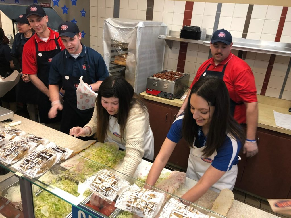 On Wednesday, March 27: Jersey Mike's Donates 100 Percent of Sales to Local Charities